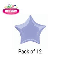 "Deep Lavender 20"" Star Shaped Foil Balloons 12pk"