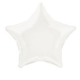 "Single 20"" White Star Shaped Foil Balloon"