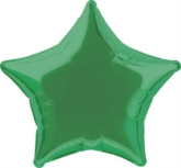 "Single 20"" Green Star Shaped Foil Balloon"