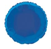 "Single 18"" Royal Blue Round Foil Balloon"