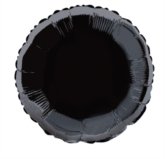 """Single 18"""" Black Circular Foil Balloon"""