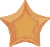 "Single 20"" Orange Star Shaped Foil Balloon"