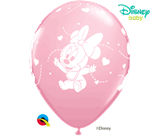"""Minnie Mouse Baby Hearts 12"""" Pink Latex Balloons 6pk"""