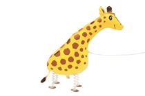 Walking Pet Giraffe Foil Balloon