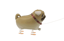 Walking Pet Pug Dog Foil Balloon
