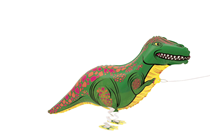Walking Pet T-Rex Dinosaur Foil Balloon