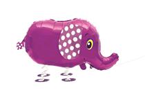 Walking Pet Elephant Foil Balloon