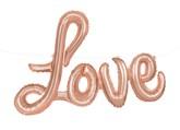 """Rose Gold Love Script 14"""" x 36"""" Foil Balloon Letter Banner"""
