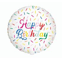 "Happy Birthday Sprinkles 18"" Foil Balloon"