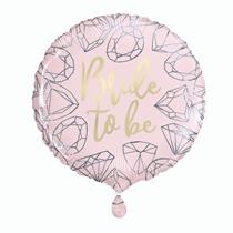 "Bride to Be Pink Diamond 18"" Foil Balloon"
