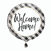 """Welcome Home Gingham 18"""" Foil Balloon"""