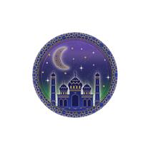 Eid 18cm Paper Plates 8pk