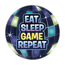 Battle Royal Eat Sleep Game Repeat 18cm Plates 8pk