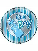 """Baby Shower It's a Boy 18"""" Stripe Foil Balloon"""