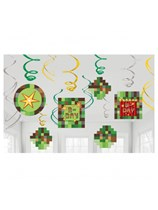 TNT Party Pixel Minecraft Swirl Decorations