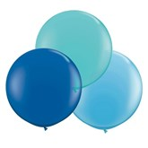"""Teal and Blue 24"""" (2ft) Latex Balloons 3pk"""
