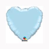 "Pearl Light Blue 9"" Heart Foil Balloon"