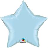 "Pearl Light Blue 20"" Star Foil Balloon"