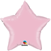 "Pearl Pink 20"" Star Foil Balloon Pkgd"