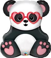 "Lovestruck Panda Bear 32"" Foil Balloon"