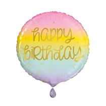 "Pastel Ombre Happy Birthday 18"" Foil Balloon"