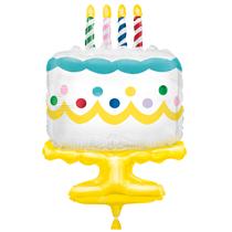 """Giant Birthday Cake 25"""" Foil Balloon"""