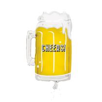 "Giant Cheers Beer Mug 21"" Foil Balloon"