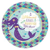 Mermaid Party 23cm Paper Plates 8pk