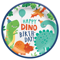 Dinosaur Party Birthday 23cm Paper Plates 8pk