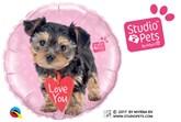 "Studio Pets Love You Terrier 18"" Foil Balloon"