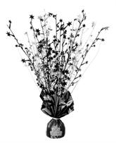 Black & Silver Foil Balloon Weight Centrepiece