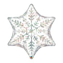 "Christmas Dazzling Snowflake 36"" Holographic Foil Balloon"