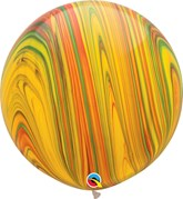 """Traditional SuperAgate 30"""" (2.5ft) Latex Balloons 2pk"""