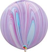 "Fashion SuperAgate 30"" (2.5ft) Latex Balloons 2pk"