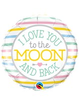 """I Love You To Moon And Back 18"""" Foil Balloon"""