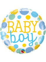 "Baby Boy Dots 18"" Foil Balloon"