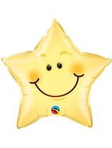 """Smiley Face Star 20"""" Foil Balloon"""