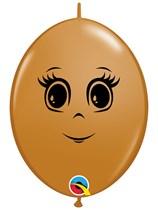 "Feminine Face Mocha Brown 6"" Quick Link Latex 50pk"