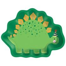 Dinosaur Shaped 22cm Party Plates 8pk