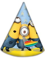 Lovely Minions Party Hats 6pk