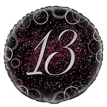 "Pink Glitz 13th Birthday 18"" Foil Balloon"