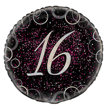 "Pink Glitz 16th Birthday 18"" Foil Balloon"