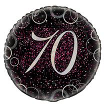 "Pink Glitz 70th Birthday 18"" Foil Balloon"