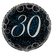 "Blue Glitz 30th Birthday 18"" Foil Balloon"
