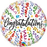 "Congratulations Streamers 18"" Foil Balloon"