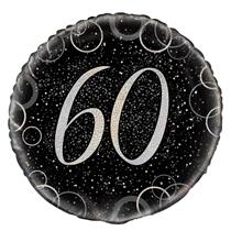 "Silver Glitz 60th Birthday 18"" Foil Balloon"
