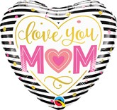 """Mother's Day Love You Stripes 18"""" Foil Balloon"""