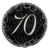 "Silver Glitz 70th Birthday 18"" Foil Balloon"