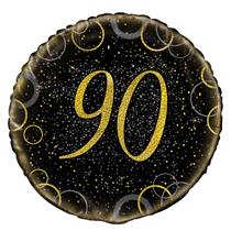 "Gold Glitz 90th Birthday 18"" Foil Balloon"