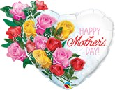 """Mother's Day Rose Bouquet 35"""" Foil Balloon"""